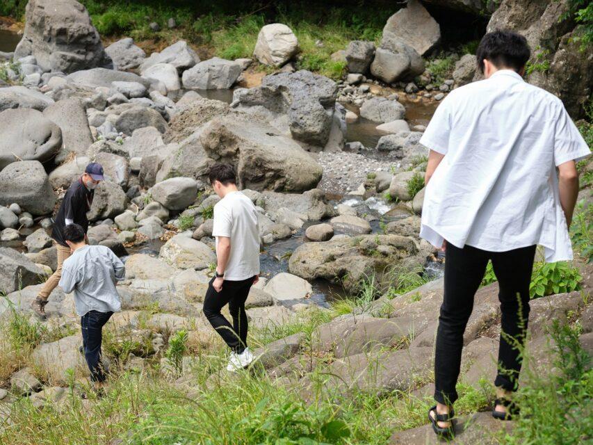 鮎壺の滝へ接近